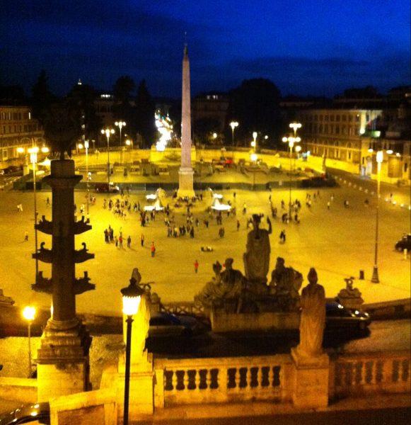 La nuit tombe sur Rome