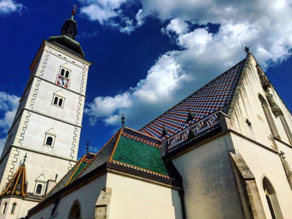 Le toit très particulier de l'église Saint-Marc