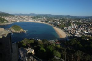 La baie de la Concha à San Sebastian