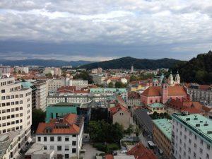 Ljubljana en Slovénie et dans la zone euro