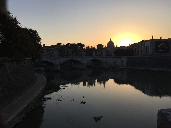 Rome, au coucher du soleil