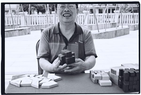 Portrait d'un vendeur à Wuhan