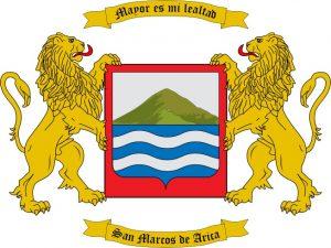 Le blason de la ville Arica, l'une des plus grandes villes du Chili