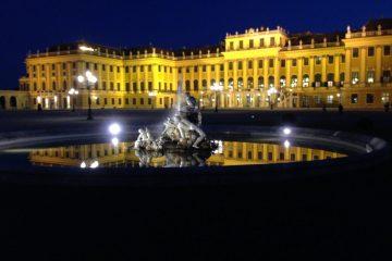 Vienne la nuit, la plus grande ville d'Autriche