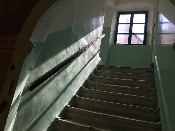 L'escalier pour rejoindre ma chambre à Sibenik