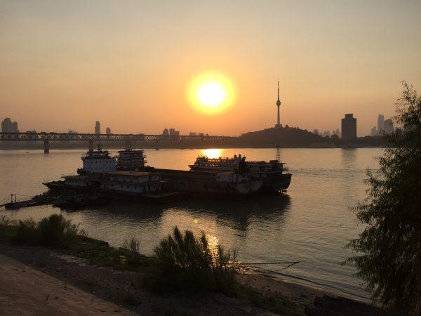 Un coucher de soleil en Chine
