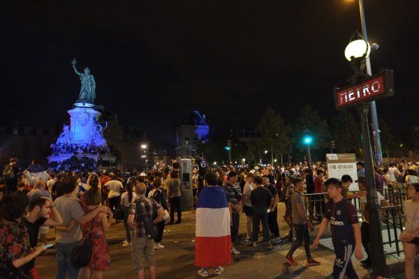 Place de la République 15 juillet 2018