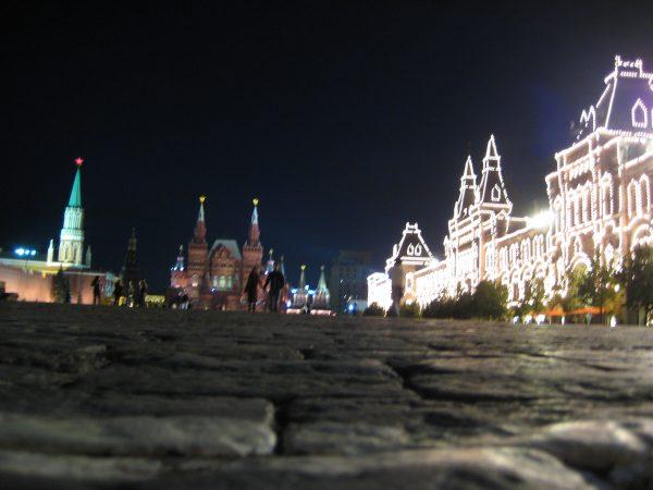 Sur la place Rouge à Moscou, le Kremlin, le Musée d'histoire et le GOUM