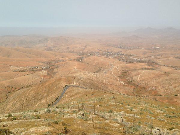 La route FV 20 à Fuerteventura