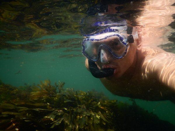 Yann en plongée à Hoëdic