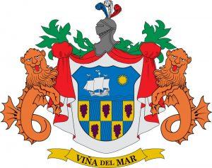 les armes Vina del Mar, plus grande ville Chili