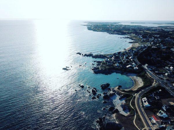 L'océan Atlantique et les villes du Pouliguen et de Batz sur mer