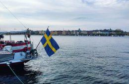 Sur les quais à Stockholm