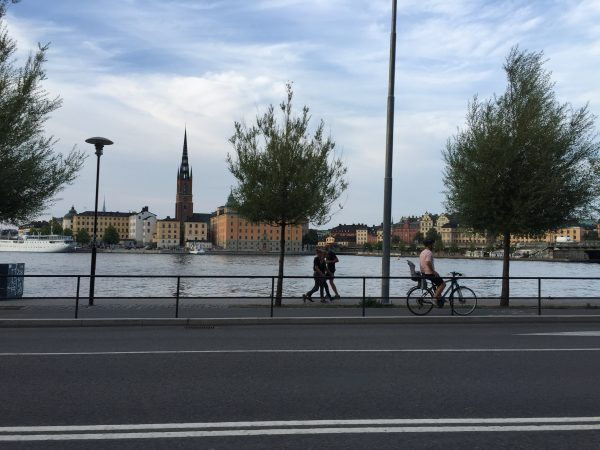 Photo prise en voiture à Stockholm
