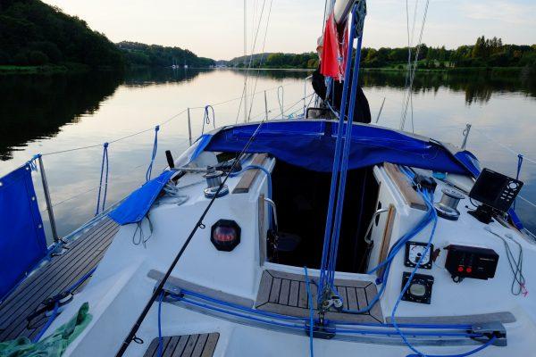 En voilier sur la Vilaine