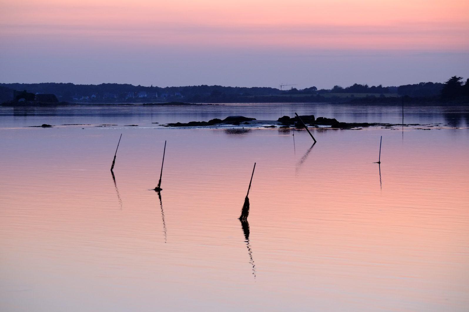 Un coucher de soleil sur la Ria d'Etel