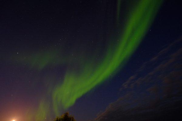 Une splendide aurore boréale qui illumine le ciel à Alta en Norvège