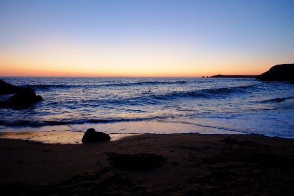 Port Bara, l'une des rares plages de la côte sauvage