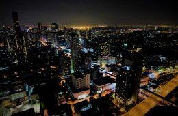 Bangkok la nuit depuis le bar de Lebua
