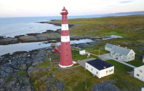 Le phare de Slettnes au 71,1 degrés nord
