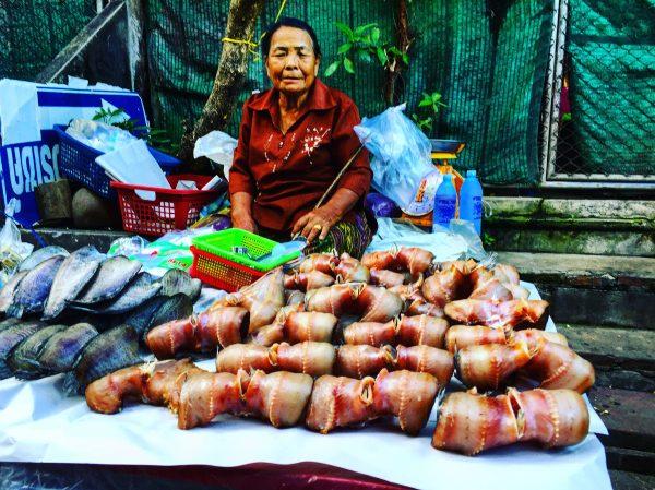 Une vendeuse de poissons à Nan