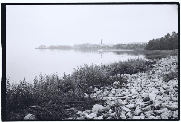 Un lac dans le nord de la norvège