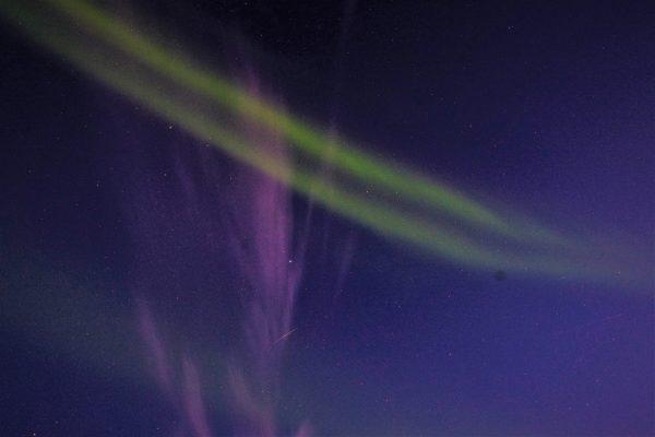 Une aurore boréale dans le ciel du Cap Nord en Norvège