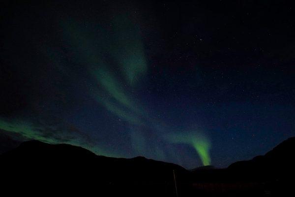 Nordkapp, seul au monde avec des aurores boréales