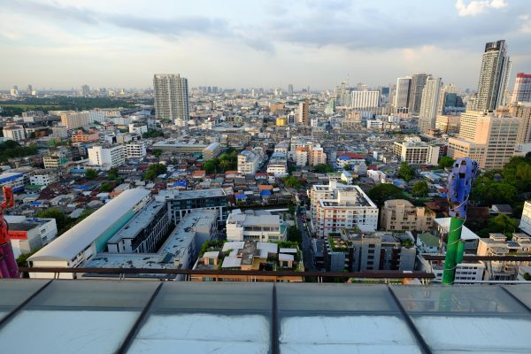 Vue depuis le toit de l'hôtel Siam Siam