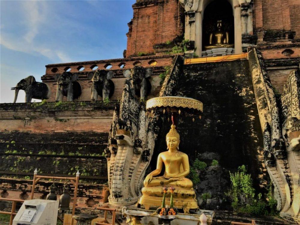 Chedi Luang, une influence de l'Inde du sud