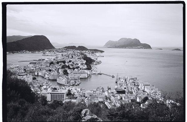 La Norvège et Alesund en noir et blanc