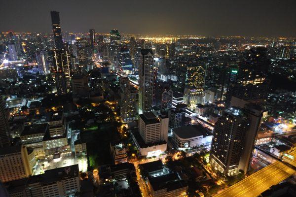 L'une des plus belles vues sur Bangkok depuis Lebua