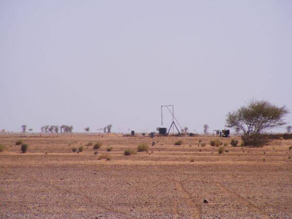 Dans la région d'Arlit, sur le continent Africain