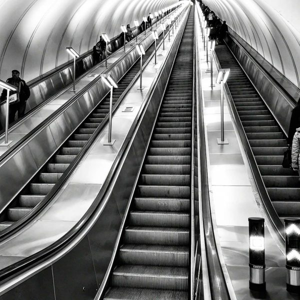 Les escalators du métro moscovite