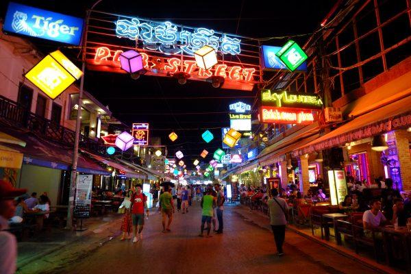 L'une des rues principales de Siem Reap