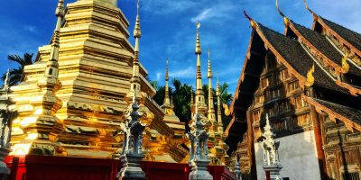 Le Stuppa du temple de Pan Tao à Chiang Mai