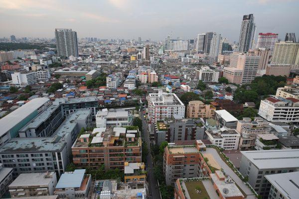 Vue depuis l'un des hôtels de la ville de Bangkok