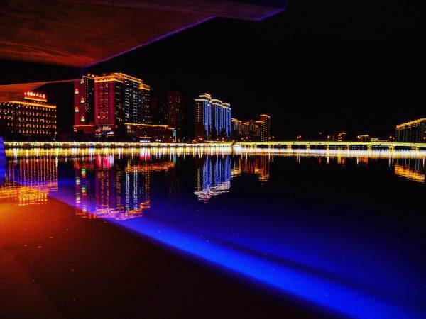 Des lumières irréelles à Yanji dans le nord de la chine