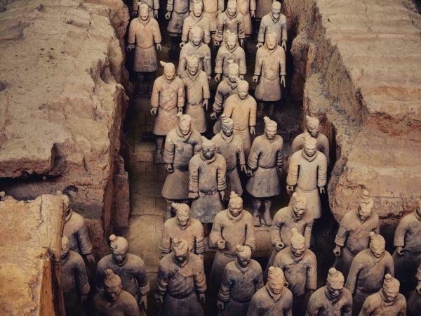 L'armée de terre cuite de Xian en Chine