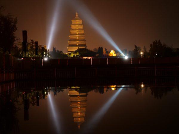 Eclairage à Xian la nuit