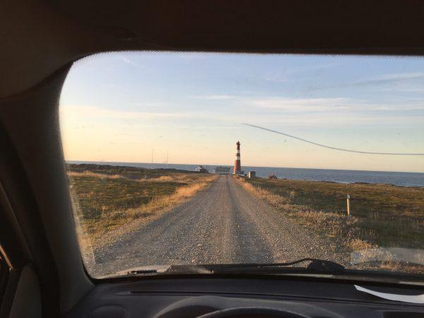 La route du phare de Slettnes