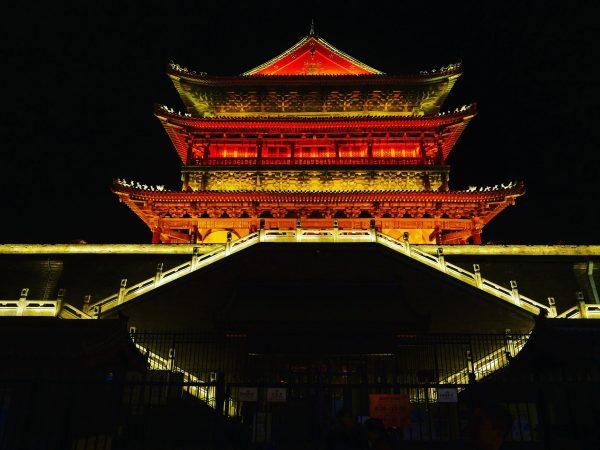 La Tour du Tambour marquant le début du quartier musulman de Xian