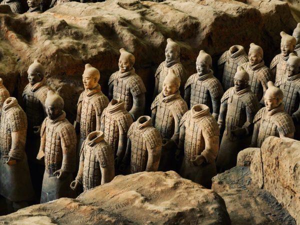 Un moment très émouvant à Xian, la découverte des soldats en terre cuite