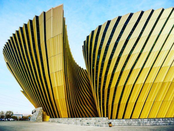 Changchun et son centre d'exposition en forme de pivoine