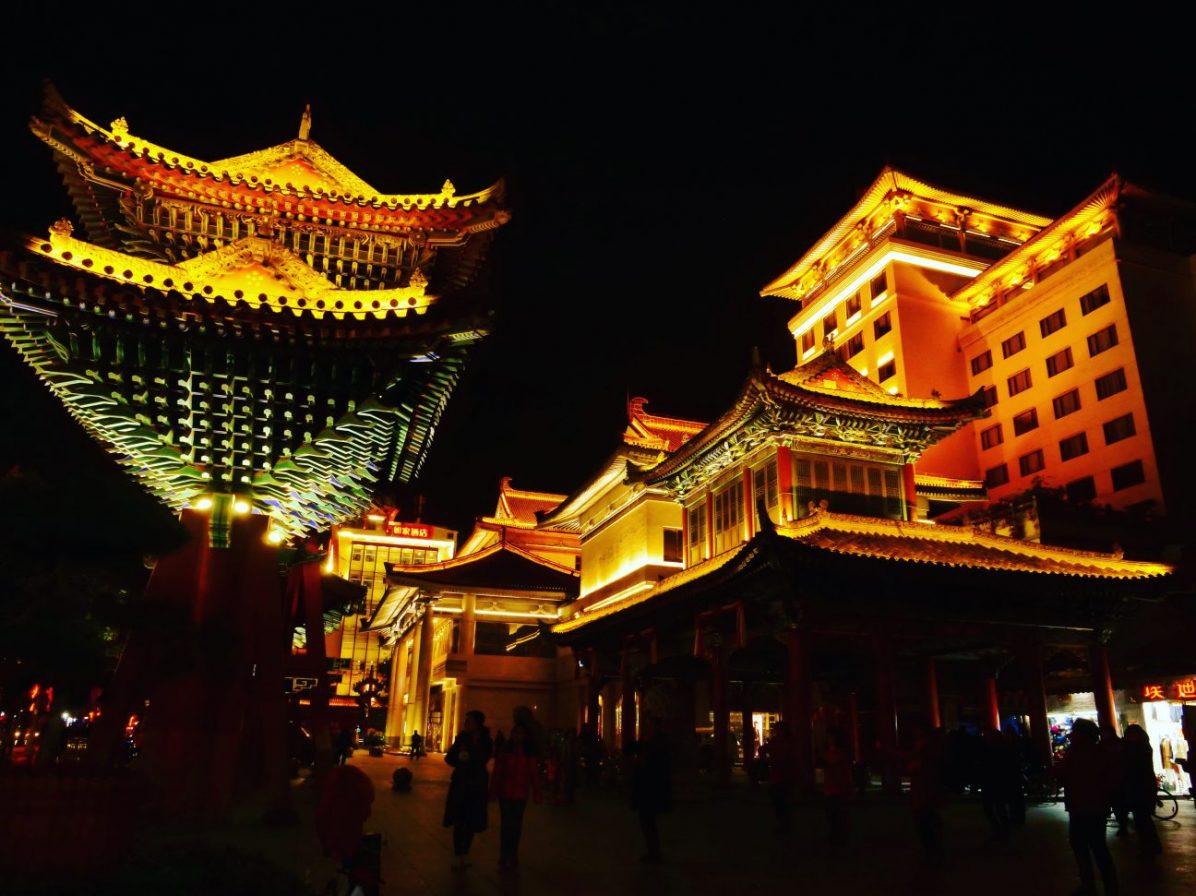 Xian dans le centre ville d'une des plus belles villes de Chine