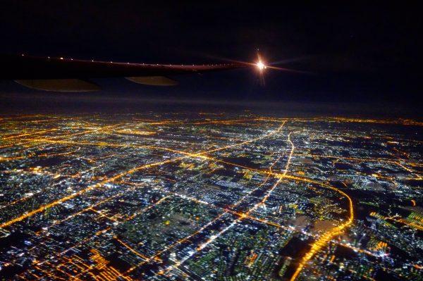 Vue imprenable sur Bangkok la nuit