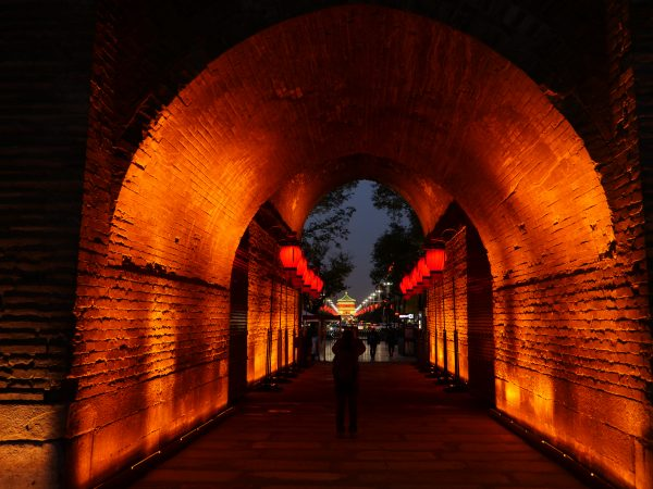 Balade sous les remparts à Xian