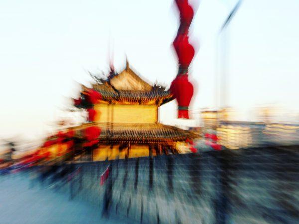 Sur les remparts de Xian, l'une des plus belles villes de Chine