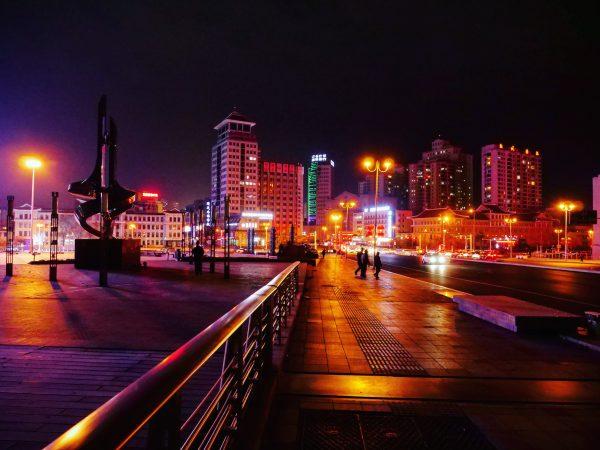 Une soirée assez froide à Yanji et des lumières hallucinantes