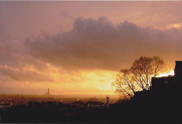 Montmartre au coucher du soleil